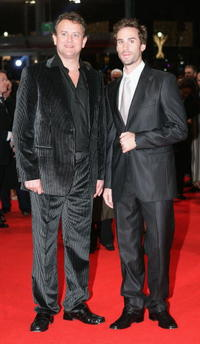 Hugh Bonneville and Joseph Fiennes at the premiere of
