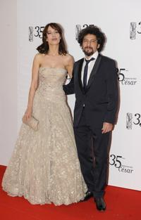 Dolores Chaplin and Radu Mihaileanu at the 35th Cesar's French Film Awards Ceremony.