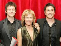 Antony Starr, Robyn Malcolm and Tammy Davis at the Qantas New Zealand Television Awards.