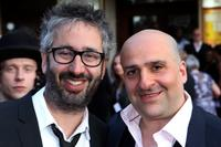David Baddiel and Omid Djalili at the world premiere of