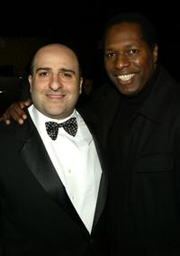 Omid Djalili and Wren Brown at the dinner hosted by Miramax in honor of Whoopi Goldberg.