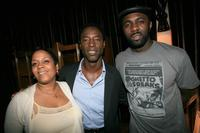 Producer Judy McCreary, Isaiah Washington and Idris Elba at the Chris