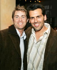 John Gatins and Oded Fehr at the after party of the premiere of