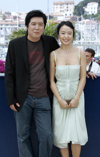 Director Lee Chang-Dong and Jeon Do-yeon at the portrait session of 60th International Cannes Film Festival.