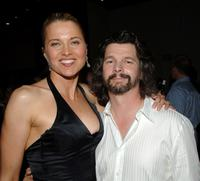 Lucy Lawless and Ronald D. Moore at the