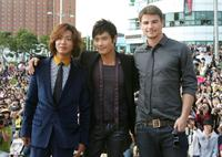 Takuya Kimura, Lee Byung-hun and Josh Hartnett at the 14th Pusan International Film Festival.