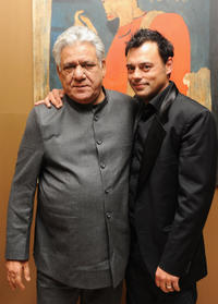 Om Puri and Emil Marwa at the after party of the premiere of