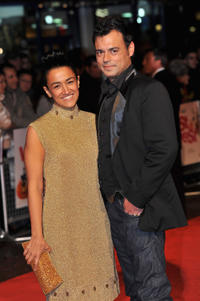 Zita Sattar and Emil Marwa at the premiere of