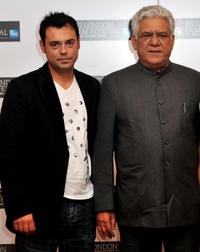 Emil Marwa and Om Puri at the portrait session of