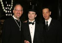 Doug Wright, Jefferson Mays and Moises Kaufman at the after party of the opening of