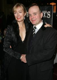 Jefferson Mays and wife at the after party of the opening night of