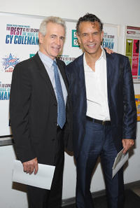 James Naughton and Brian Stokes Mitchell at the New York premiere of