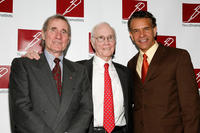 Jim Dale, Roger Berlind and Brian Stokes Mitchell at the 2011 New Dramatists Benefit Luncheon in New York.
