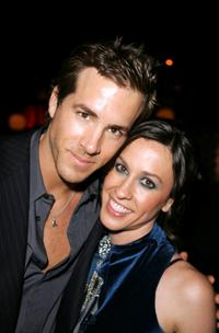 Ryan Reynolds and Alanis Morissette at the after party of the premiere of