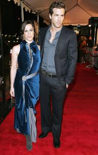 Alanis Morissette and Ryan Reynolds at the Los Angeles premiere of