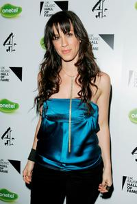 Alanis Morissette at the live final of UK Music Hall Of Fame 2005.