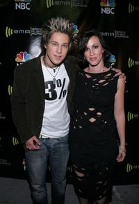 Ryan Cabrera and Alanis Morissette at the 2004 Radio Music Awards.