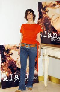 Alanis Morissette at the photocall to promote her new album