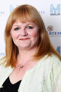 Lesley Nicol at the Evening with Downton Abbey for Raising Money for Merlin The Medical Relief Charity in London.