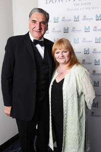 Jim Carter and Lesley Nicol at the Evening with Downton Abbey for Raising Money for Merlin The Medical Relief Charity in London.
