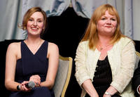 Laura Carmichael and Lesley Nicol at the Evening with Downton Abbey for Raising Money for Merlin The Medical Relief Charity in London.