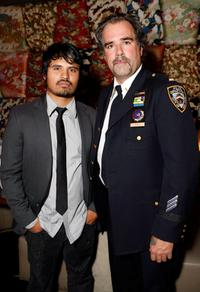 Michael Pena and Steve Mona at the NY rescue workers detoxification project charity event.