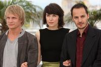 Jeremie Renier, Arta Dobroshi and Fabrizio Rongione at the photocall of