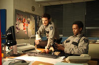 Kerr Smith as Axel Palmer and Edi Gathegi as Deputy Martin in