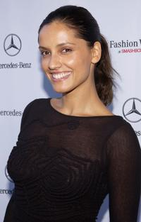 Leonor Varela at the Mercedes-Benz Fashion Week.