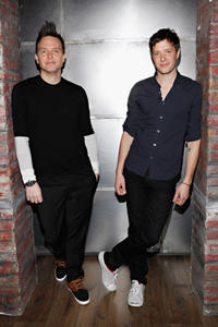 Mark Hoppus and Damian Kulash at the portrait session of