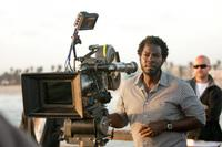 Director Rick Famuyiwa on the set of