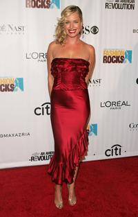 Rebecca Romijn at the Fashion Rocks at Radio City Music Hall.