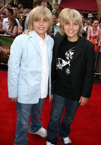 Cole Sprouse and Dylan Sprouse at the world premiere of