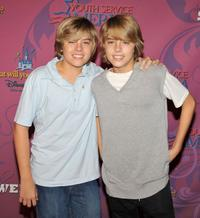 Dylan Sprouse and Cole Sprouse at the Miley Cyrus'