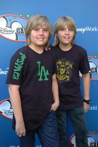 Dylan Sprouse and Cole Sprouse at the Disney Channel Games 2007 All-Star party.