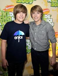 Dylan Sprouse and Cole Sprouse at the Nickelodeon's 2009 Kids Choice Awards.