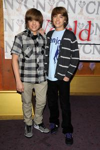 Dylan Sprouse and Cole Sprouse at the World of Disney store.
