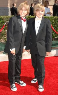 Dylan Sprouse and Cole Sprouse at the 2007 Creative Arts Emmy Awards.
