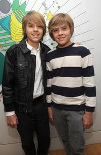 Cole Sprouse and Dylan Sprouse at the MTV's TRL at MTV studios.