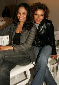 Judy Reyes and Lucia Rijker at the Kevan Hall Fall 2005 show at Mercedes Benz Fashion Week.