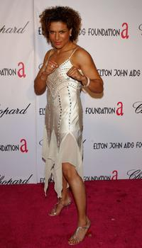 Lucia Rijker at the 13th Annual Elton John Aids Foundation Academy Awards Viewing Party.
