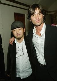 Takashi Shimizu and Jason Behr at the premiere of