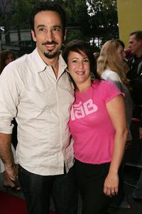 Sacha Horler and her Husband at the premiere of