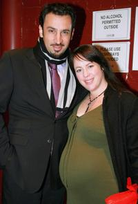 Sacha Horler and her husband at the opening night of