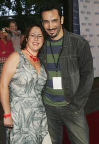 Sacha Horler and her husband at the Tropfest Short Film Festival 2005.