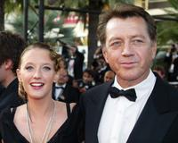 Bernard Giraudeau and Ludivine Sagnier at the Palais des festivals to attend the screening of