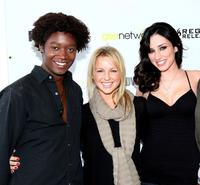 Matthew Thompson, Ellie Gerber and Najarrra Townsend at the premiere of