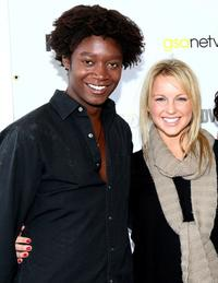 Matthew Thompson and Ellie Gerber at the premiere of