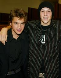 Emile Hirsch and Jake Richardson at the premiere of