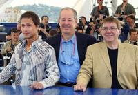 Stephane Rousseau, Denys Arcand and Remy Girard at the photocall of